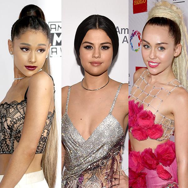 Ariana Grande, Selena Gomez, Miley Cyrus, Demi Lovato