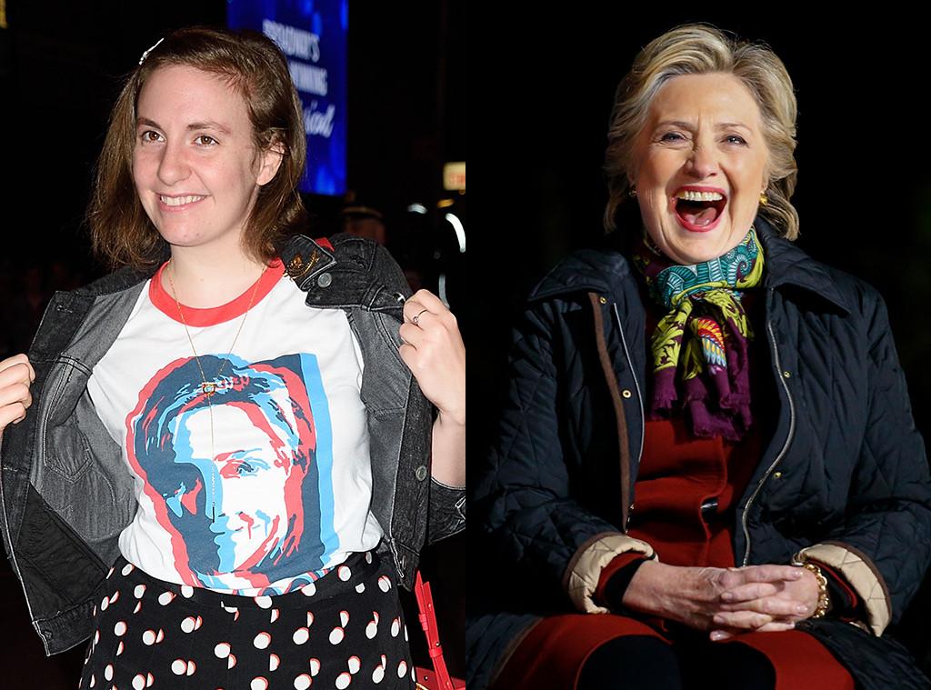 Lena Dunham, Hillary Clinton