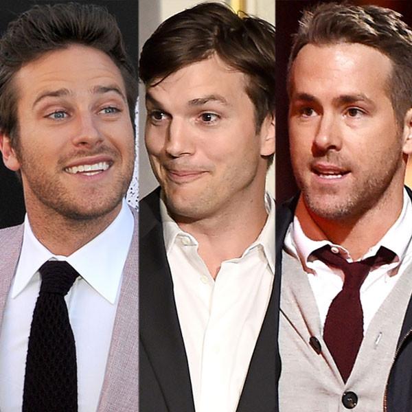 Armie Hammer, Ashton Kutcher, Ryan Reynolds