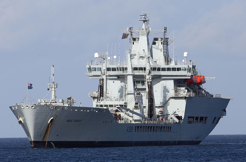 Prince Harry, RFA Wave Knight