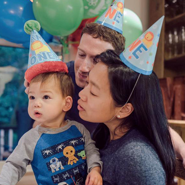 Mark Zuckerberg, Priscilla Chan, Daughter Max