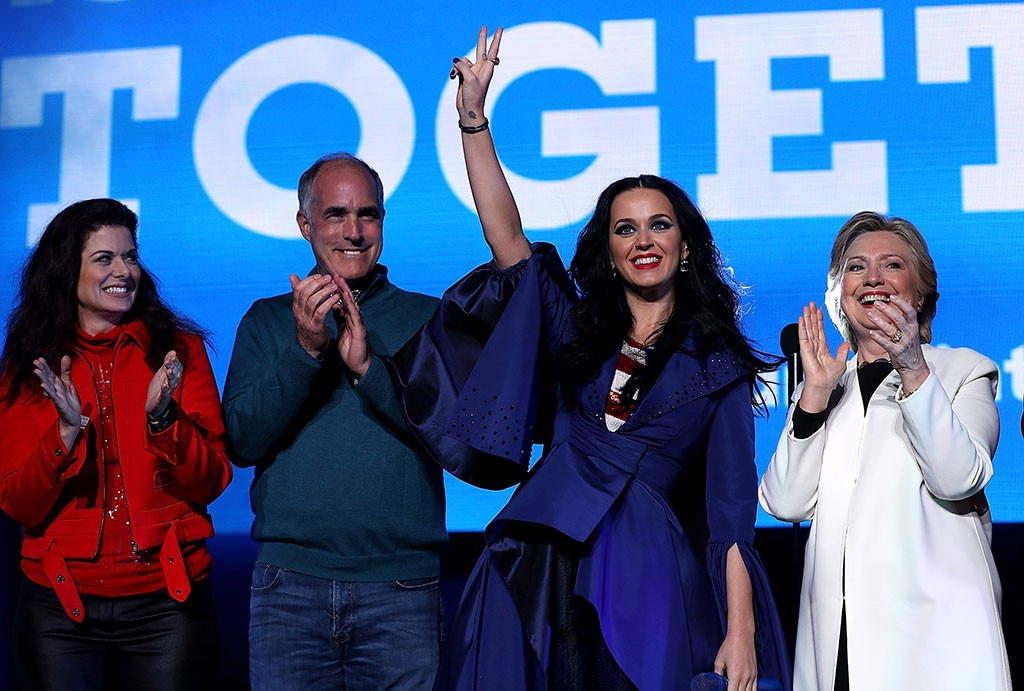 Debra Messing, Bob Casey, Katy Perry, Hillary Clinton Campaign