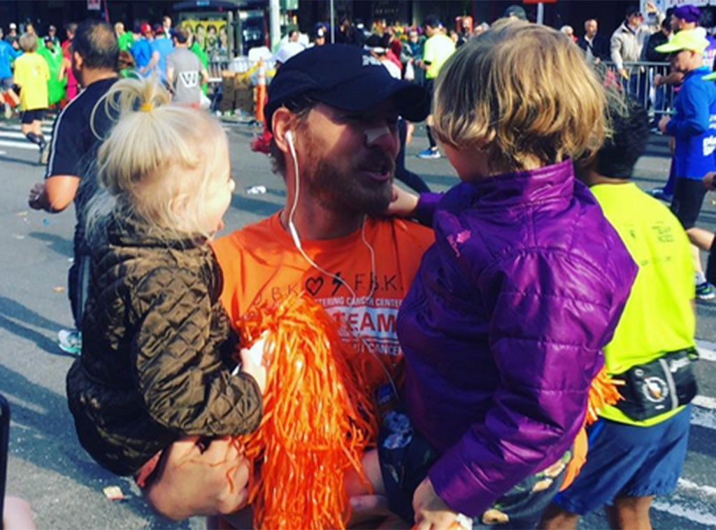 Drew Barrymore, Will Kopelman, New York Marathon