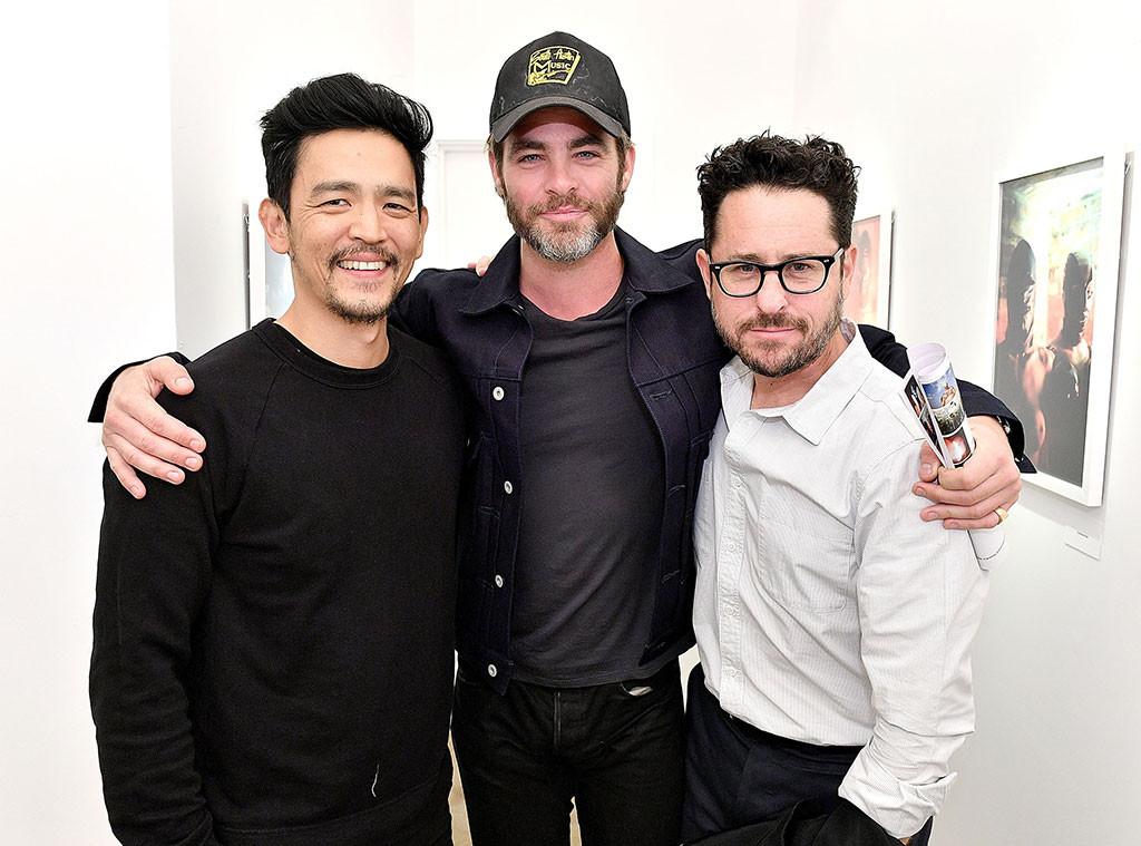 John Cho, Chris Pine, J.J. Abrams, Anton Yelchin Exhibit