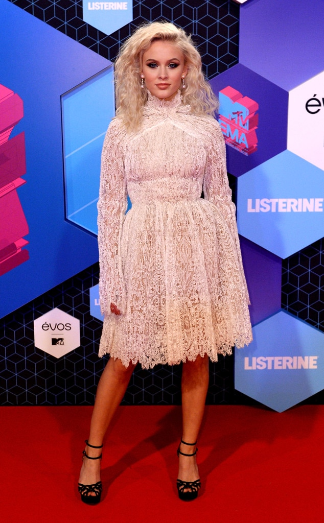 Zara Larsson From Mtv Emas 2016 Red Carpet Arrivals E News