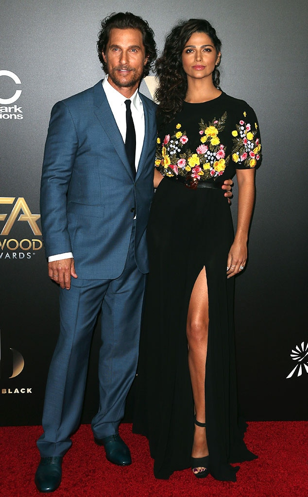 Matthew McConaughey, Camilla Alves, 2016 Hollywood Film Awards