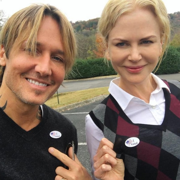 Keith Urban Amp Nicole Kidman From Celebrities Hit The Polls