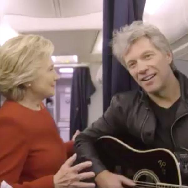 Hillary Clinton, Jon Bon Jovi, Mannequin Challenge