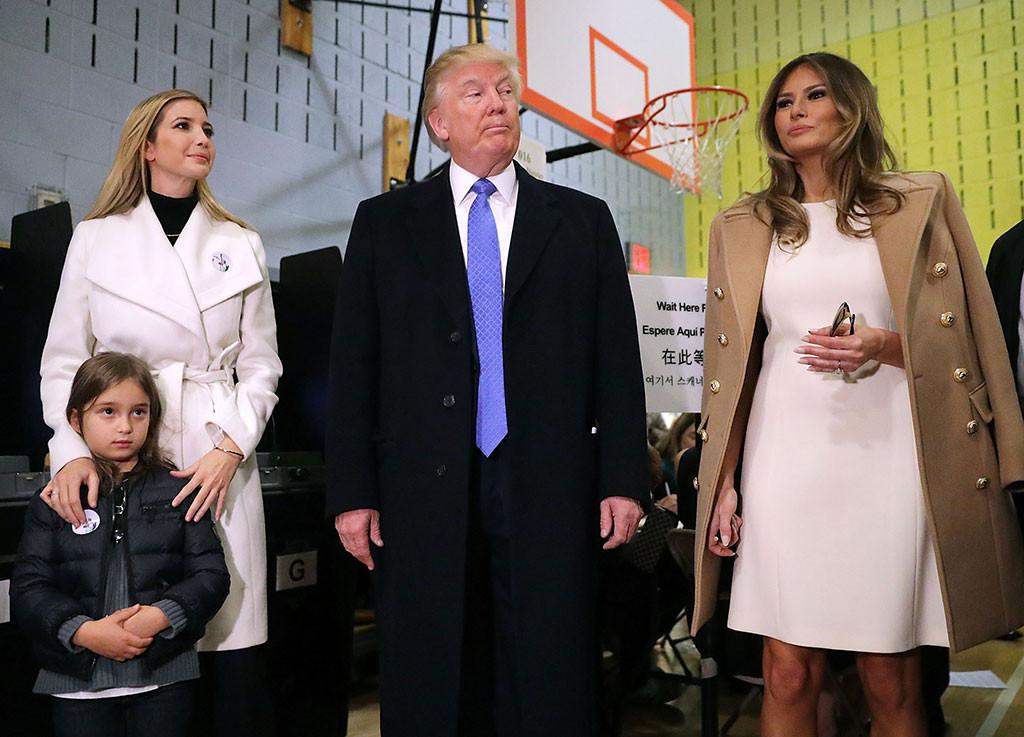 Ivanka Trump, Melania Trump, Donald Trump, Election Day