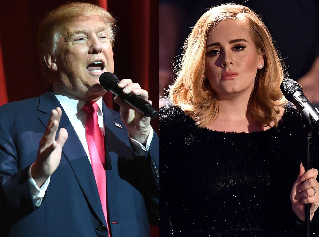 Adele, Donald Trump