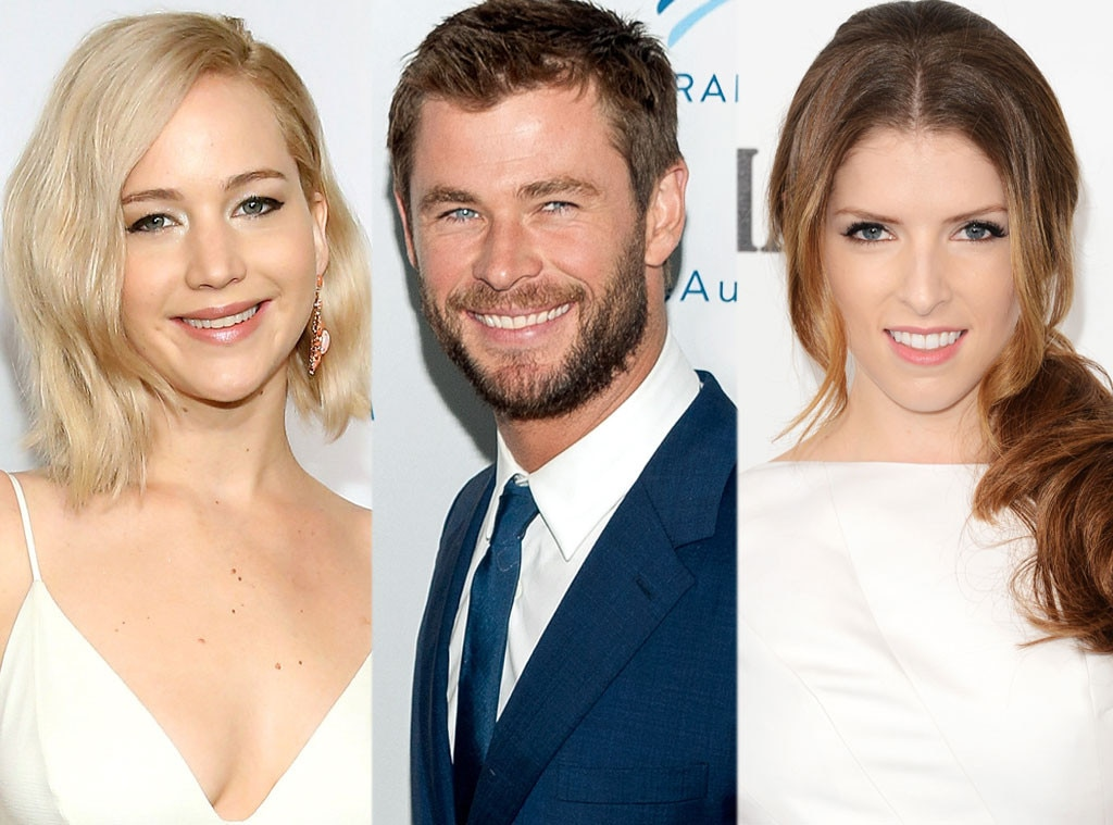 Jennifer Lawrence, Chris Hemsworth, Anna Kendrick