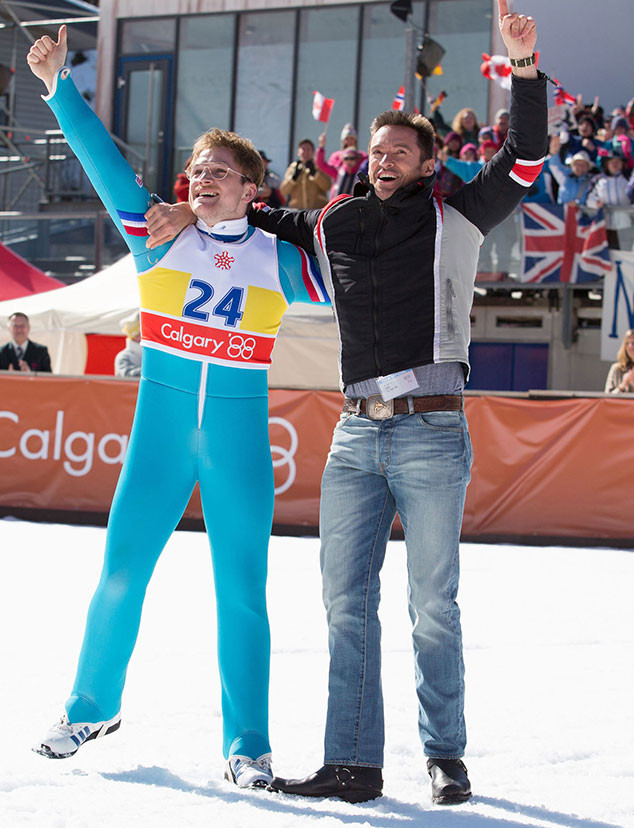 Taron Egerton, Hugh Jackman, Eddie The Eagle