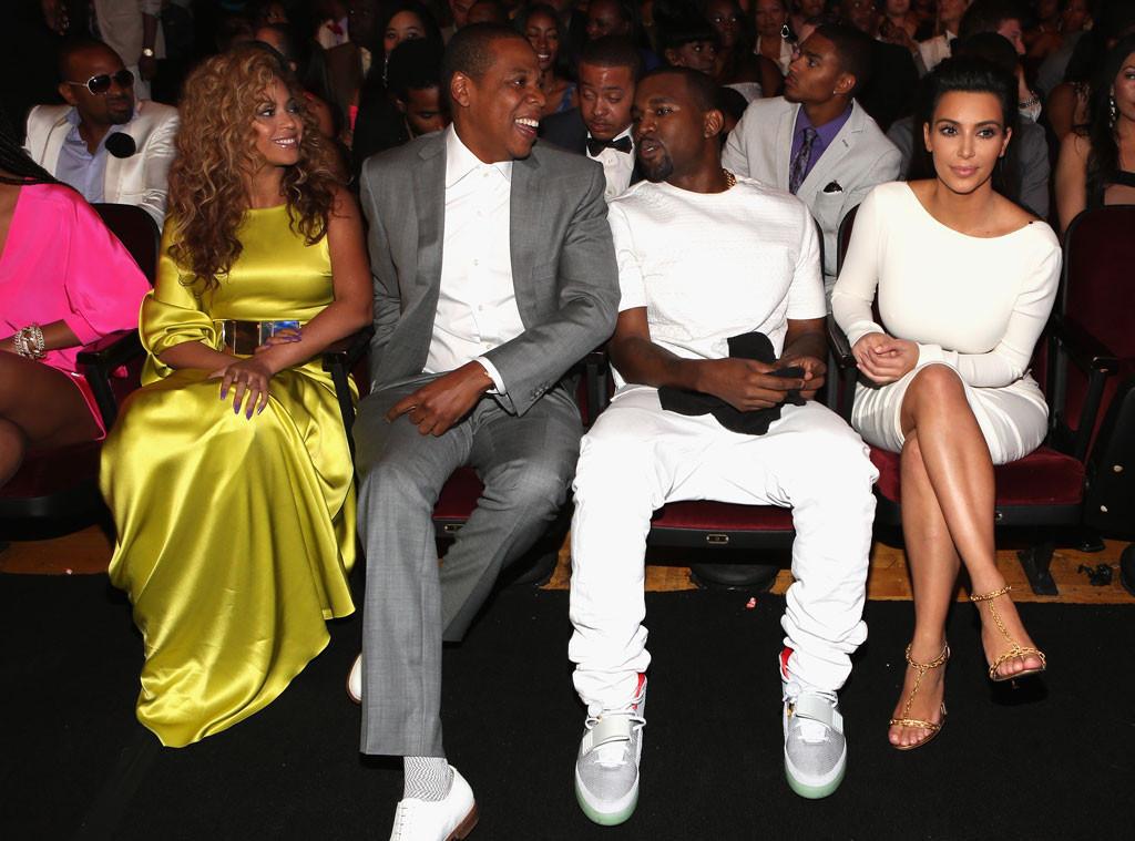 Beyonce, Jay-Z, Kim Kardashian, Kanye West