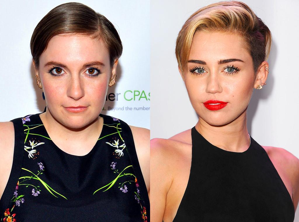Lena Dunham, Miley Cyrus