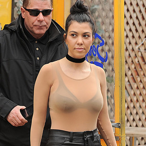 Kourtney Kardashian, New York Fashion Week Star Sightings