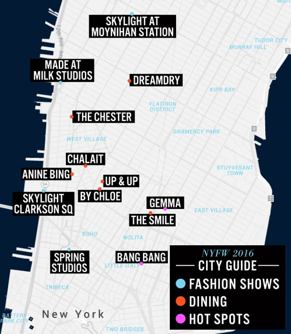 NYFW, Toyota City Guide Map
