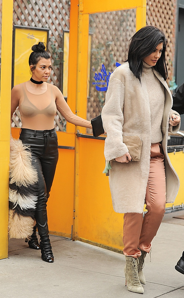 Kourtney Kardashian, Kylie Jenner, New York Fashion Week Star Sightings