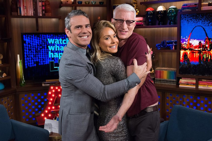 Andy Cohen, Kelly Ripa, Anderson Cooper, Watch What Happens Live