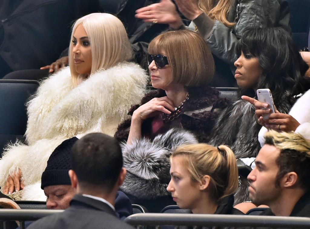 Kim Kardashian, Anna Wintour, Yeezy Show