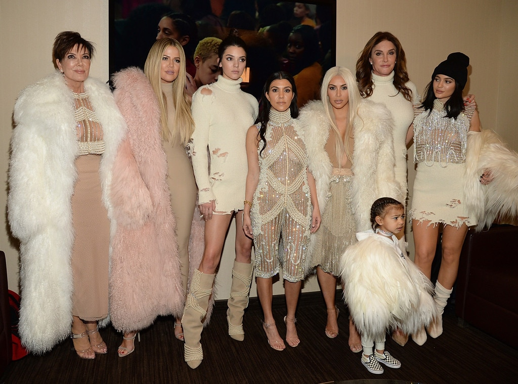 Kris, Khloe, Kendall, Kourtney, Kim, Kaitlyn, Kylie and North West