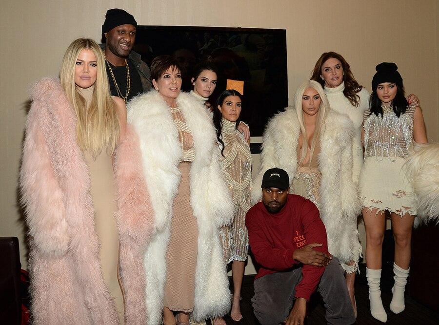 Khloe Kardashian, Lamar Odom, Kris Jenner, Kendall Jenner, Kourtney Kardashian, Kanye West, Kim Kardashian West, Yeezy, NYFW