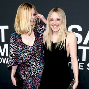 Elle Fanning, Dakota Fanning, SAINT LAURENT