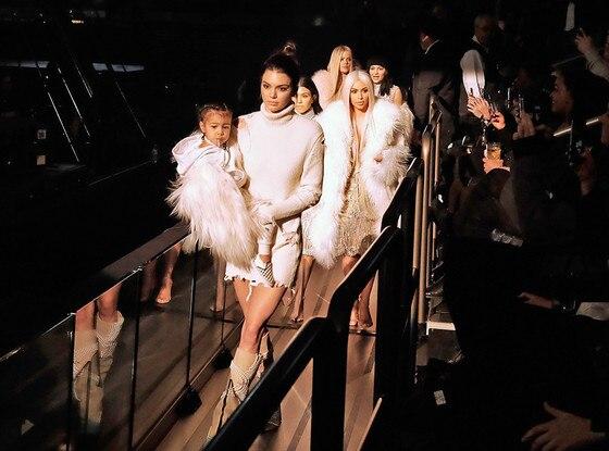 Kris Jenner, Kendall Jenner, Kourtney Kardashian, Kim Kardashian West, North West, Yeezy Season 3