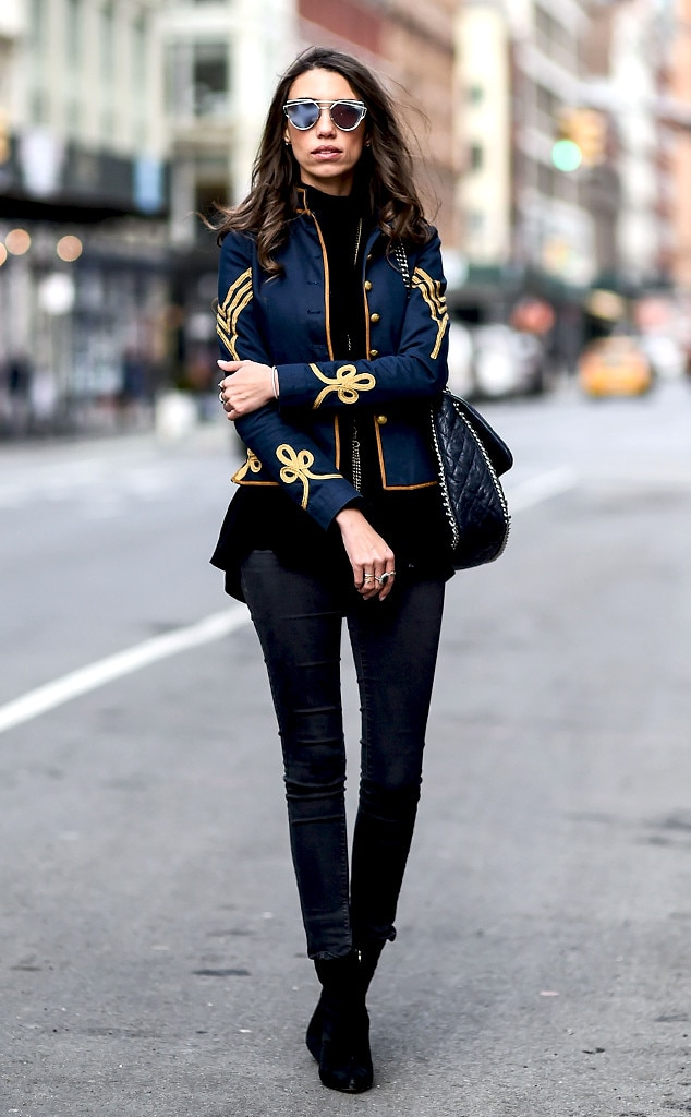 Tailored From Street Style At New York Fashion Week Fall 2016 E News