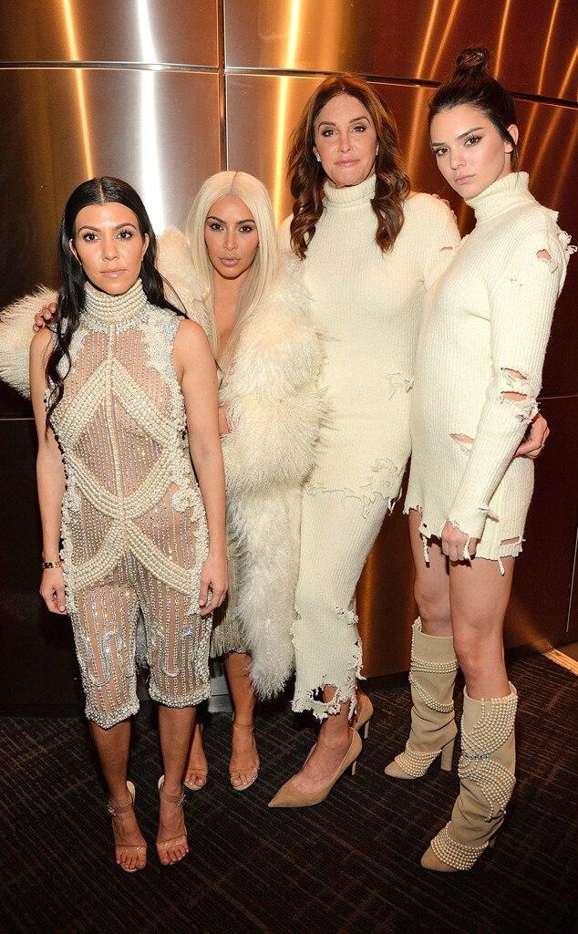 Kourtney Kardashian, Kim Kardashian West, Caitlyn Jenner, Kendall Jenner, Yeezy Season 3