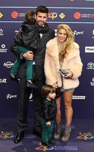 Shakira, Gerard Pique, Los 40 Music Awards