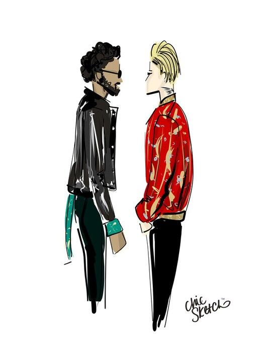 Saint Laurent, Chic Sketch, Justin Bieber Lenny Kravitz