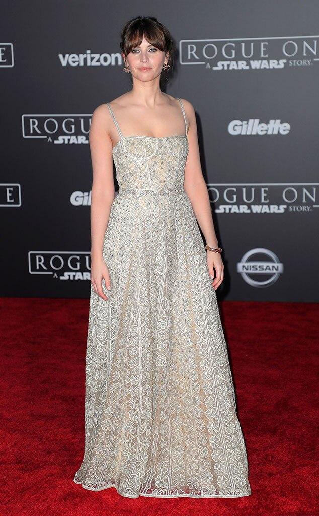 Rogue One Premiere, Felicity Jones