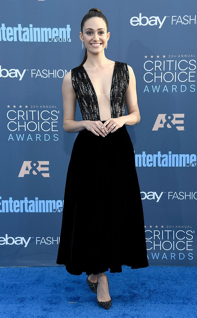 Critics Choice Awards >> Emmy Rossum From 22nd Critics Choice Awards Red Carpet Arrivals