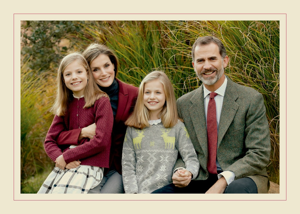 King Felipe VI of Spain, Queen Letizia, Princess Leonor, Princess Sofia