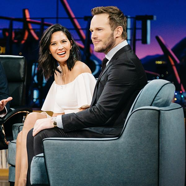 Olivia Munn, Chris Pratt, James Corden, The Late Late Show