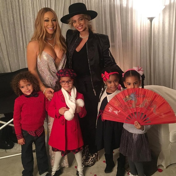 Mariah Carey, Beyoncé, Moroccan Cannon, Monroe Cannon, Blue Ivy Carter