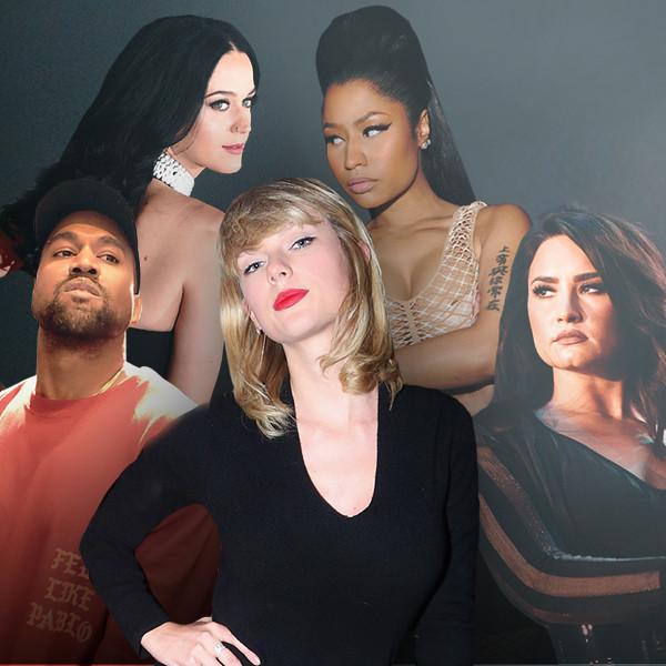 Taylor Swift, Classy Feud, Kanye West, Katy Perry, Demi Lovato, Nicki Minaj