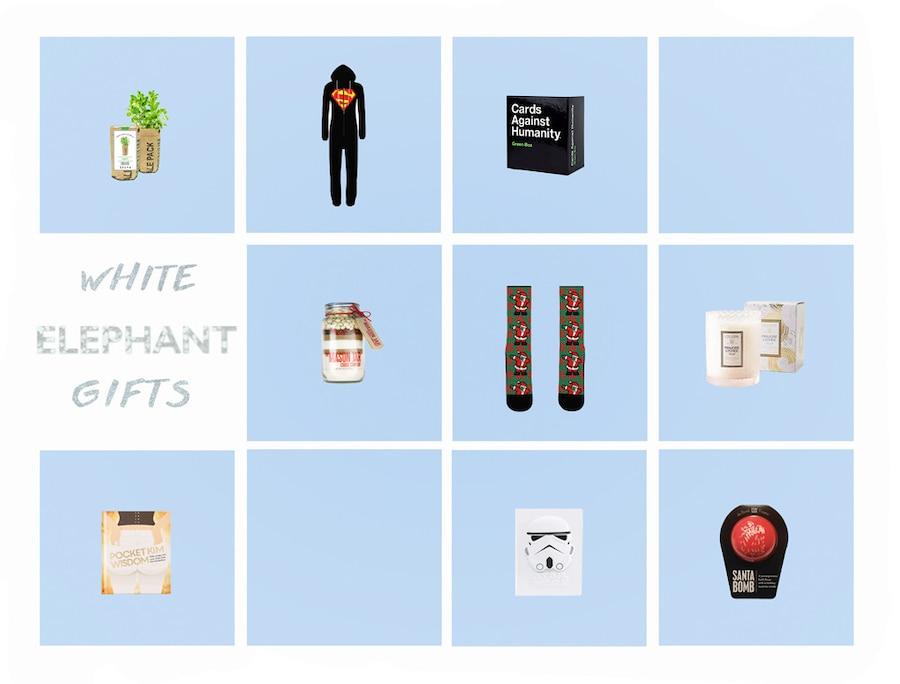 ESC: 2016 Gift Guide, White Elephant, Grid, Push Post