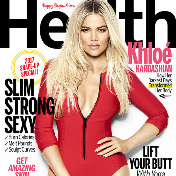 Khloe Kardashian Flaunts Her Killer Curves on the Cover of <i>Health</i> Magazine & Calls Boyfriend Tristan Thompson a ''Little Cutie''