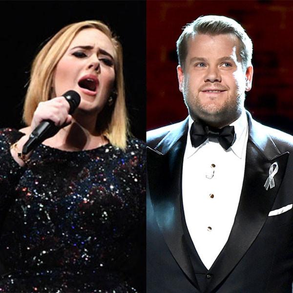 Adele, James Corden