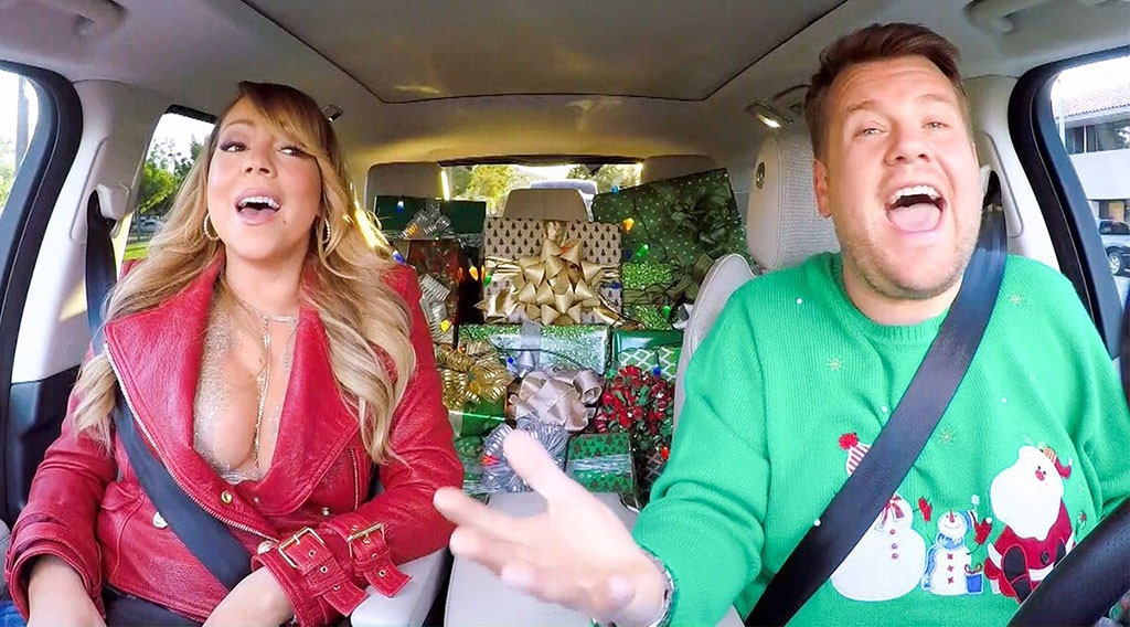 Mariah Carey Leads Star-Studded Carpool Karaoke on 'Corden'
