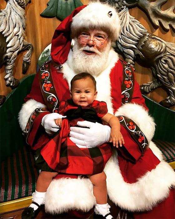 Chrissy Teigen, Daughter Luna, Santa Claus