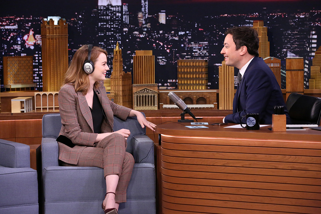 Emma Stone, Jimmy Fallon, The Tonight Show