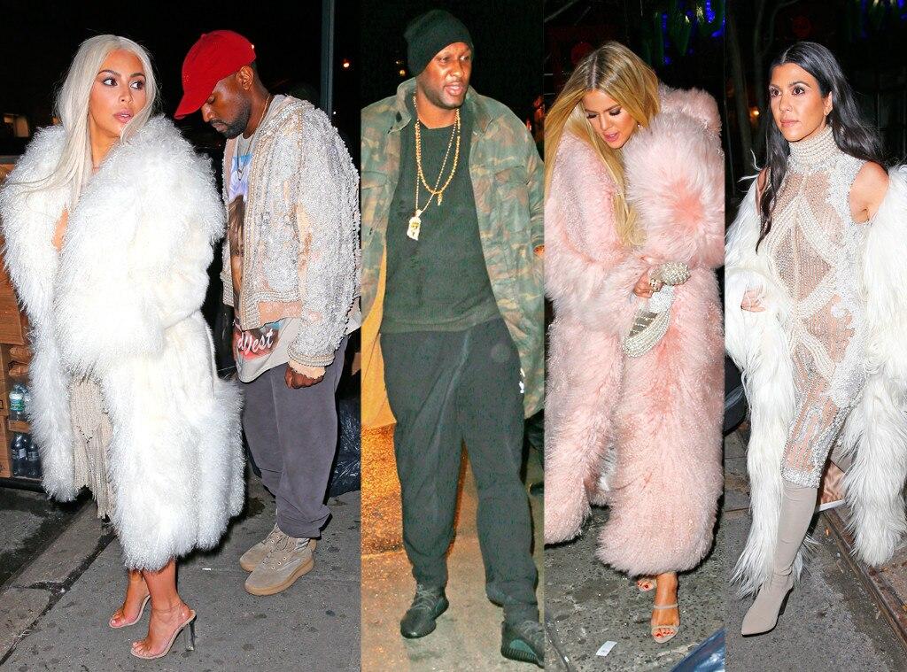 Kim Kardashian, Kanye West, Kourtney Kardashian, Khloe Kardashian, Lamar Odom, Negril