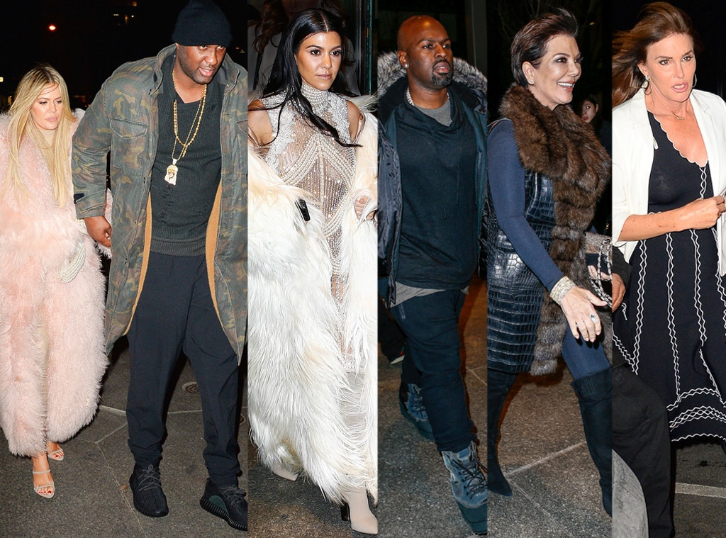 Khloe Kardashian, Lamar Odom, Kourtney Kardashian, Kris Jenner, Corey Gamble, Caitlyn Jenner, Estiatorio Milos