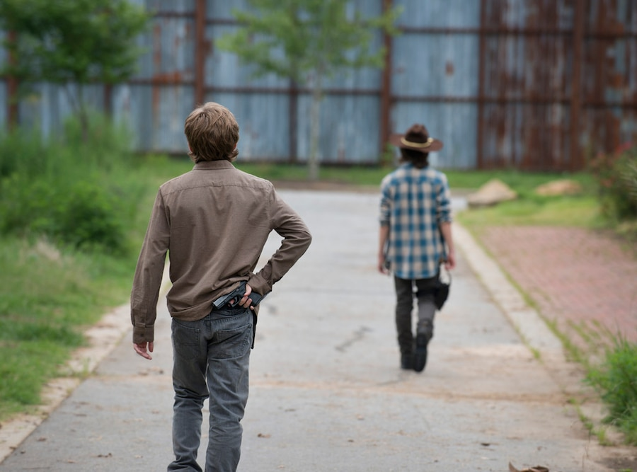 Austin Abrams, Chandler Riggs, The Walking Dead