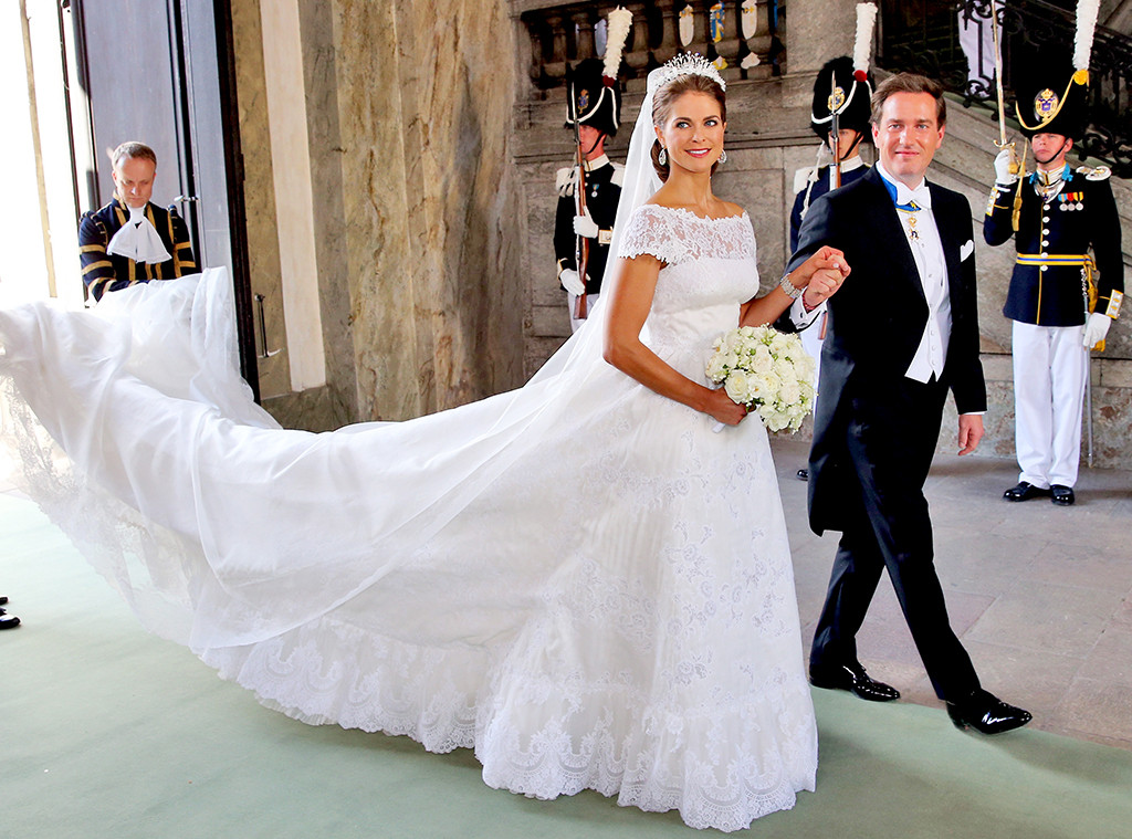 princess madeleine of sweden from so many royal wedding dresses e news. Black Bedroom Furniture Sets. Home Design Ideas