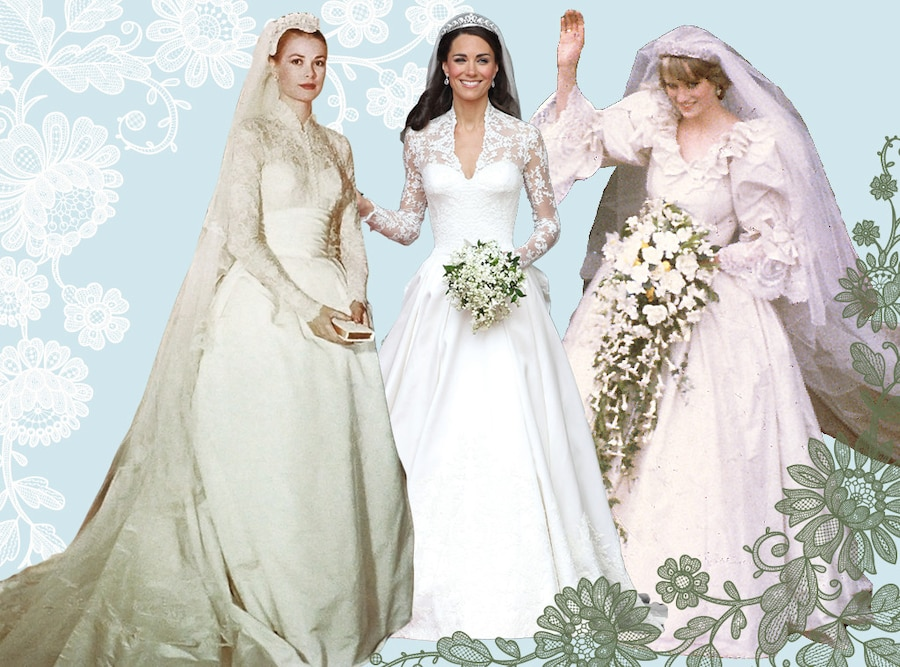 Something old something new the best royal wedding dresses of royal wedding dresses grace kelly kate middleton princess diana junglespirit Image collections