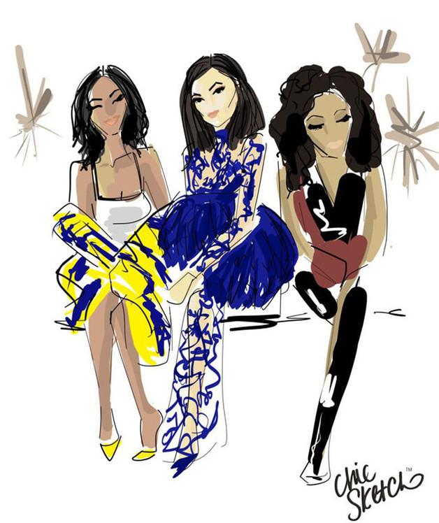 Kylie Jenner, Chic Sketch