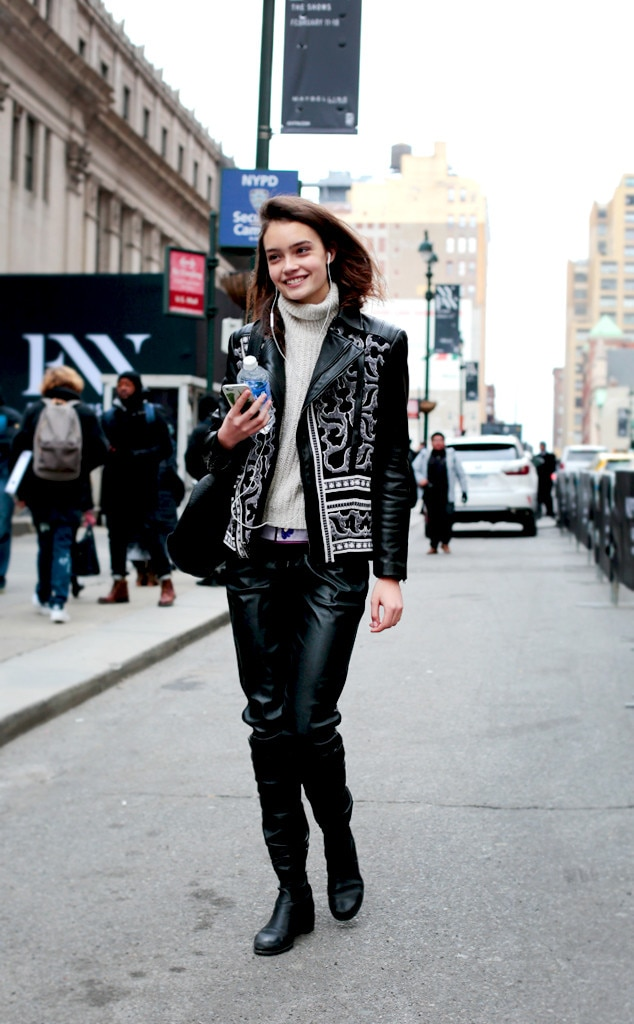 Leather Weather From Street Style At New York Fashion Week Fall 2016 E News